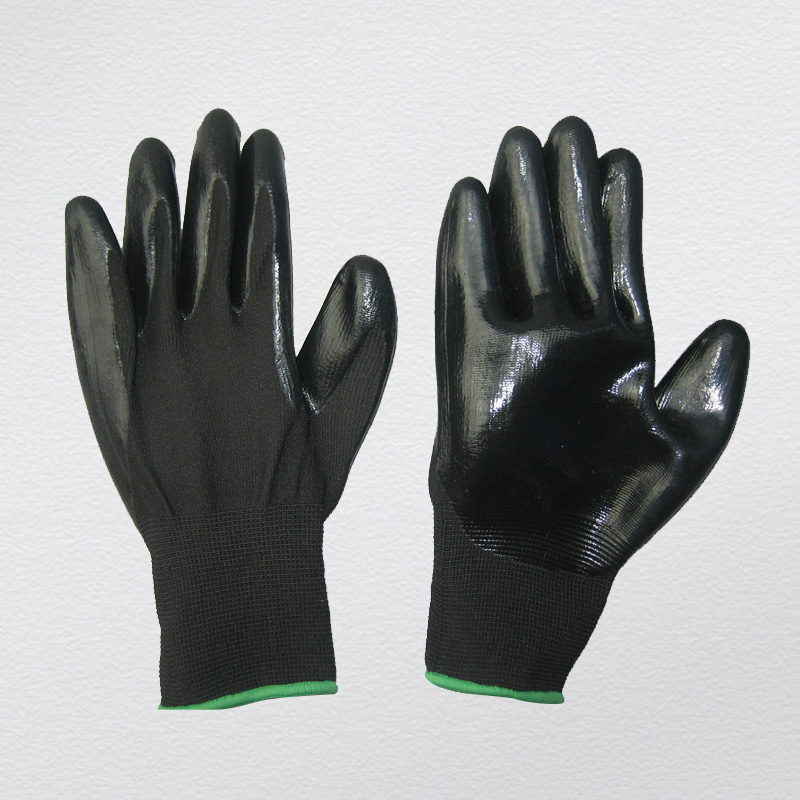 13G Polyester Liner Nitrile Coated Chemical Glove (5029. BL)