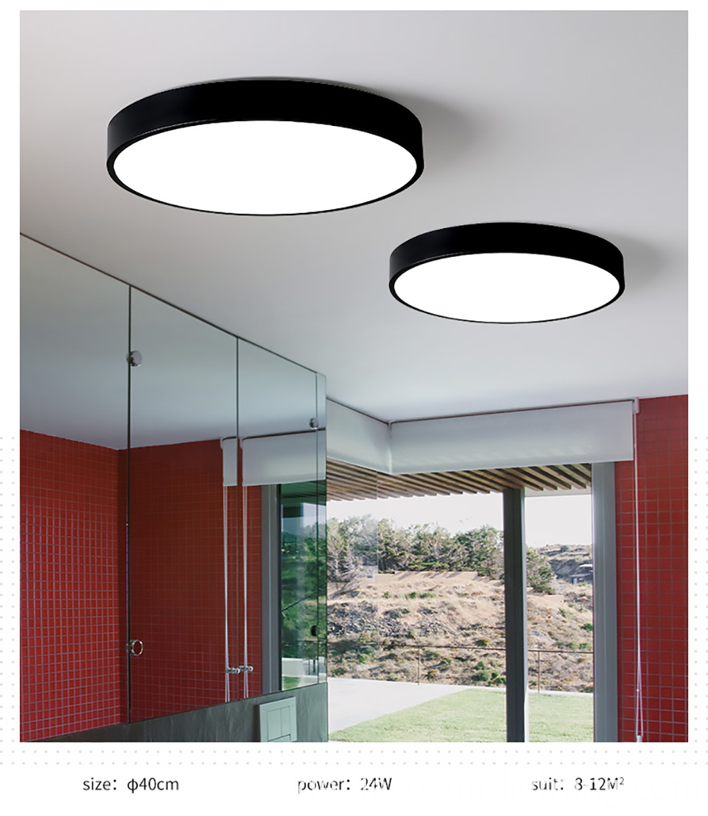 Surface mounted ceiling light