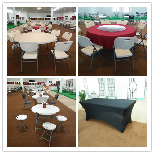 Garden Table, Folding Round Table, Dinner Table