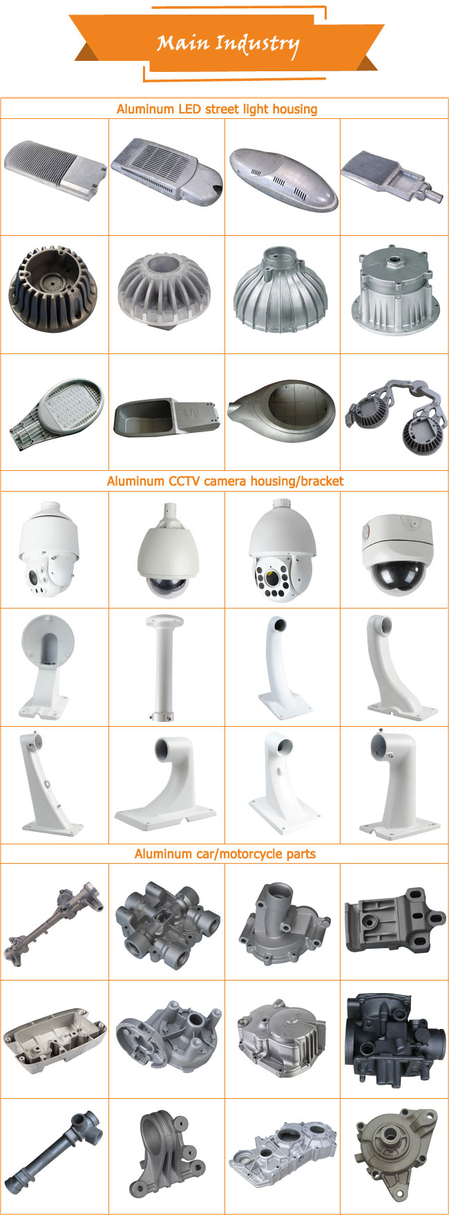 Customized Aluminum Die Casting Motorcycle Parts