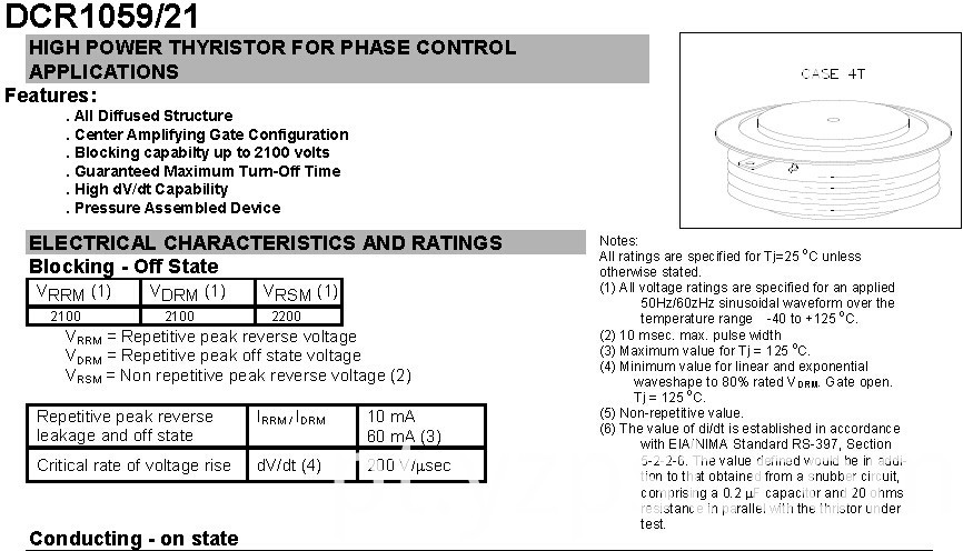 HIGH POWER THYRISTOR PHASE CONTROL