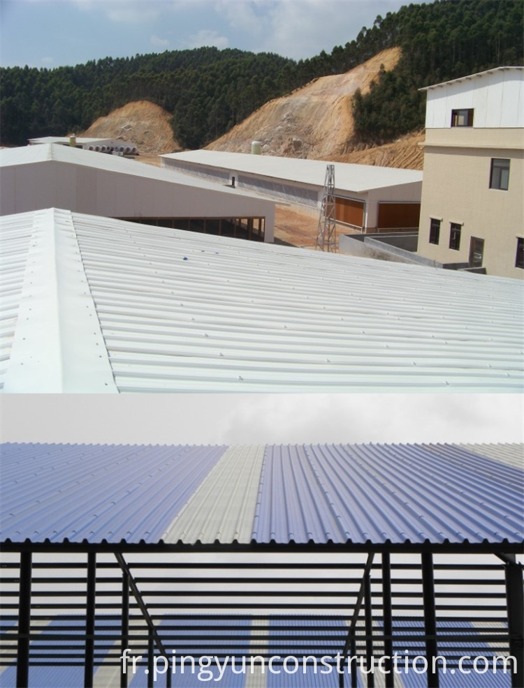 apvc roof sheet for factory