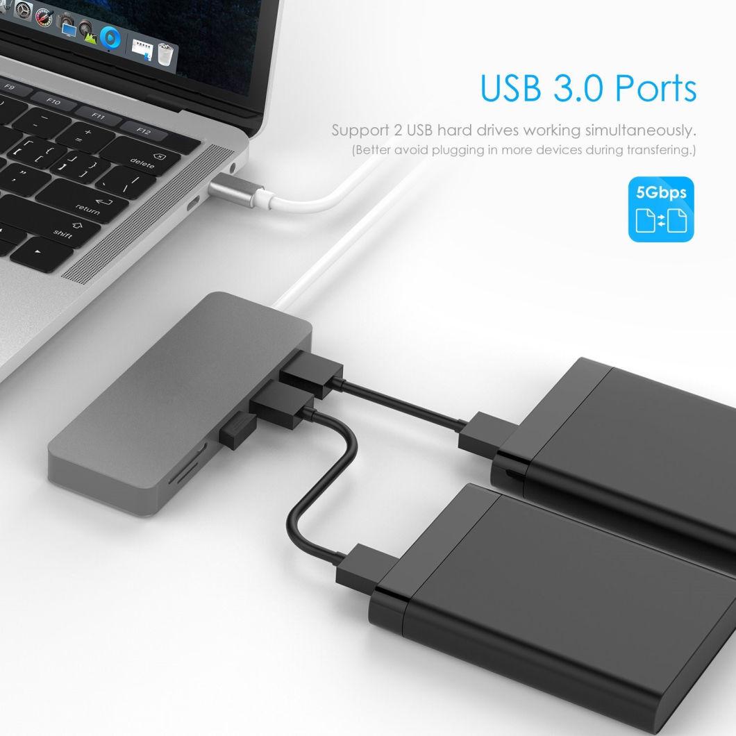 Концентратор 5-в-1 USB 3.1 Type-C для картридера SD TF и адаптер USB3.0