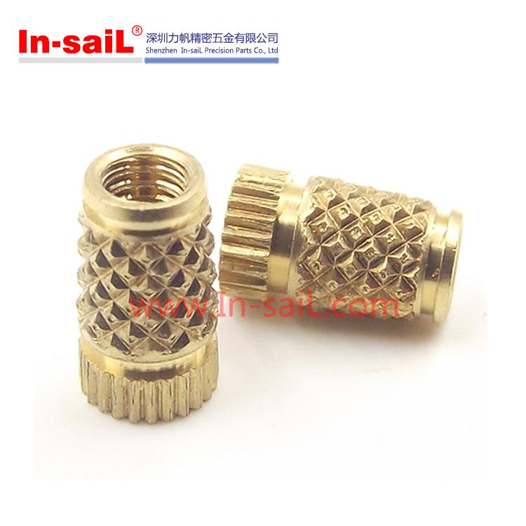 2016 China Supplier Knurled Brass Inserts for Plastics Shenzhen Manufacturer