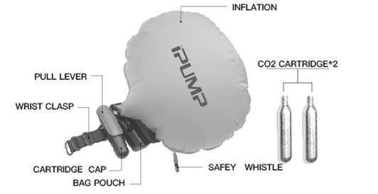 Ipump Reuseable Rescue Wristband Life Saving Float Buoy