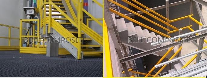 FRP Stair Handrail/Guardrail / Fiberglass Building Material