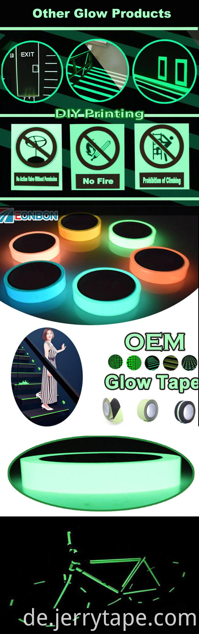 Glow Dark Roll Home Decorations