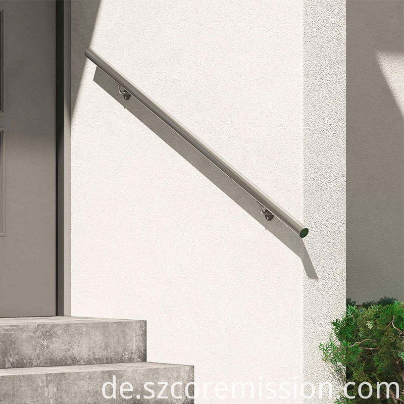 Removable Wall Mounted Stainless Steel Balustrades Handrails