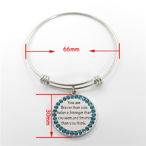 High-End Stainless Steel Jewelry Bracelet, Adjustable Bangles