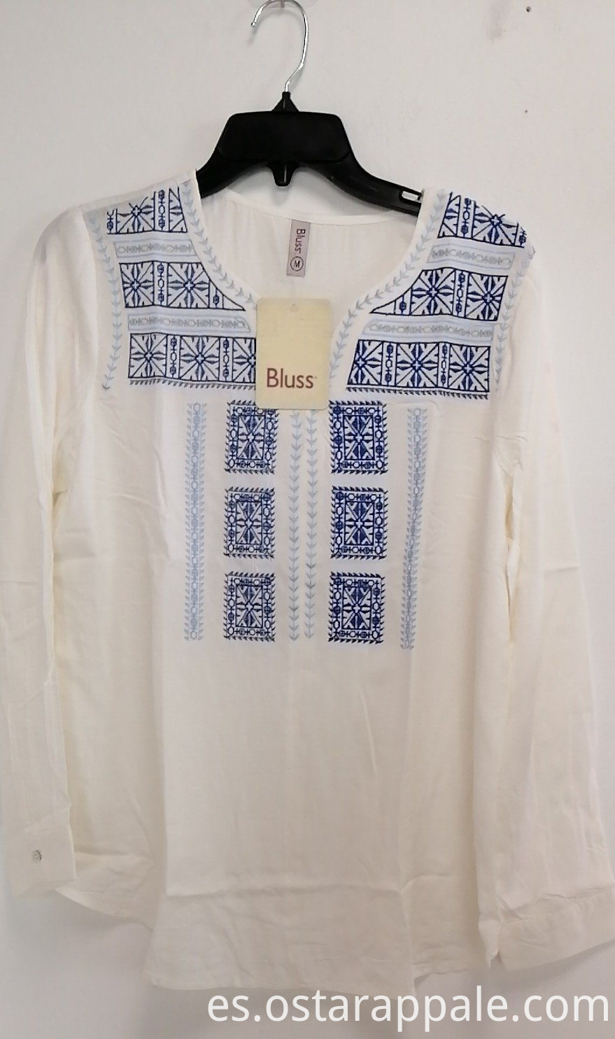 Viscose Embroidery Ladies Blouse