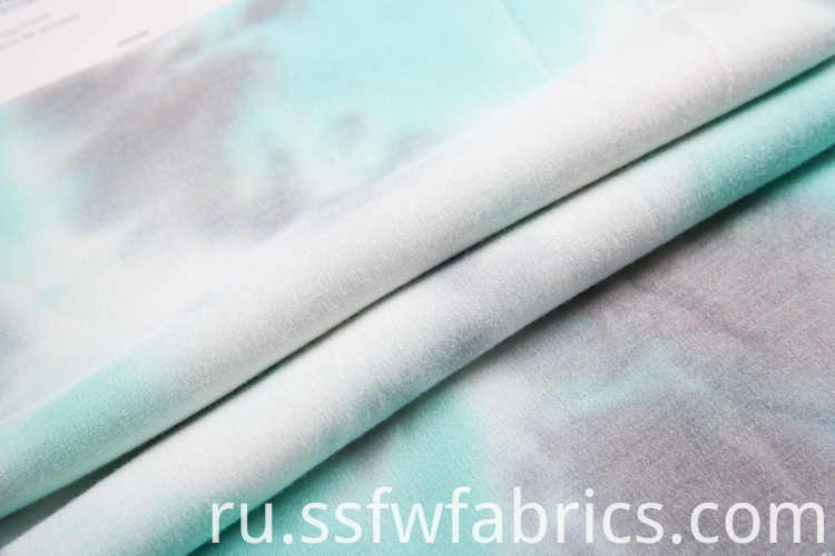 Tie Dye Knitted Fabric