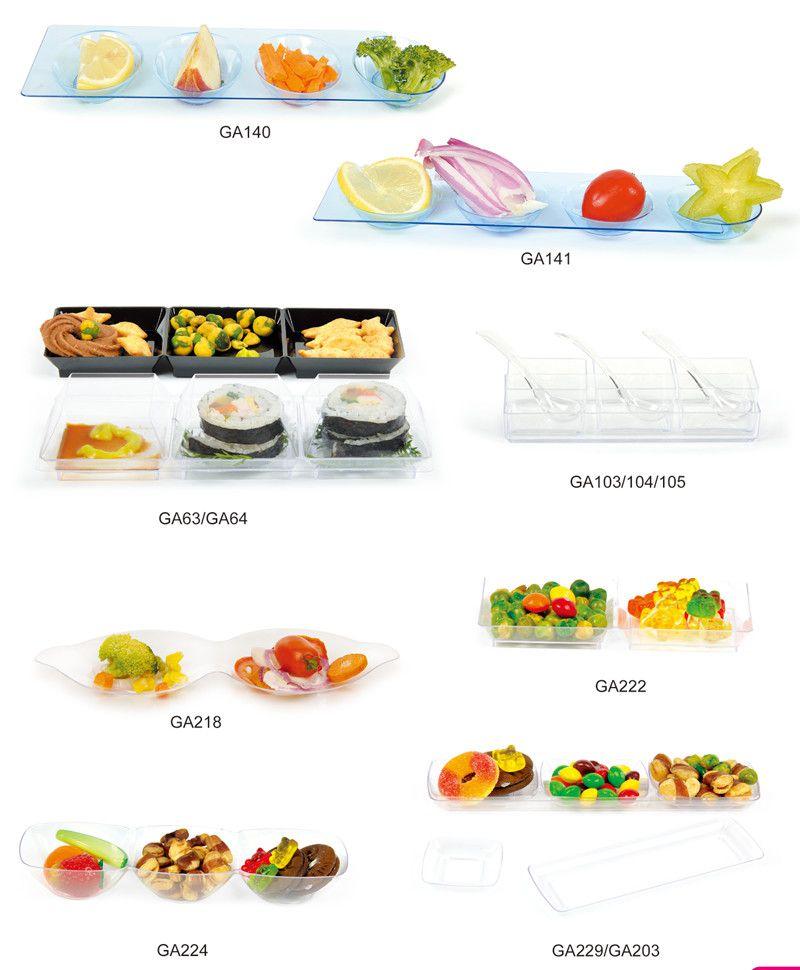 Tableware Plastic Disk Disposable Saucer Fluted Plastic Serving Dish