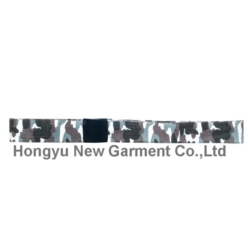 Alloy Buckle 100% Polyester Webbing Custom Belt (HY-WB017)