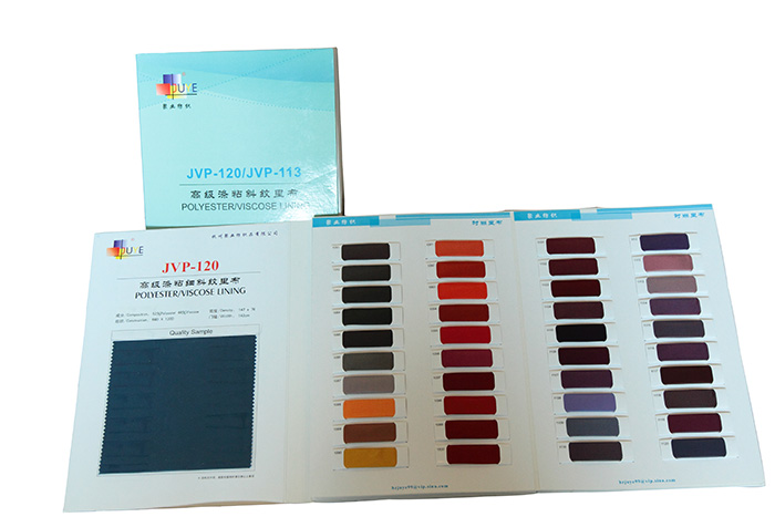 Polyester/Viscose Twill Lining Fabric for Autumn and Winter Garments (JVP120/113)