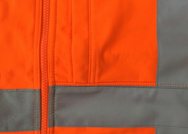 Mens safety Reflective Tape Softshell Jacket