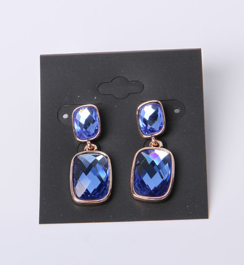 Costume Jewelry Earrings with Rhodium Plated