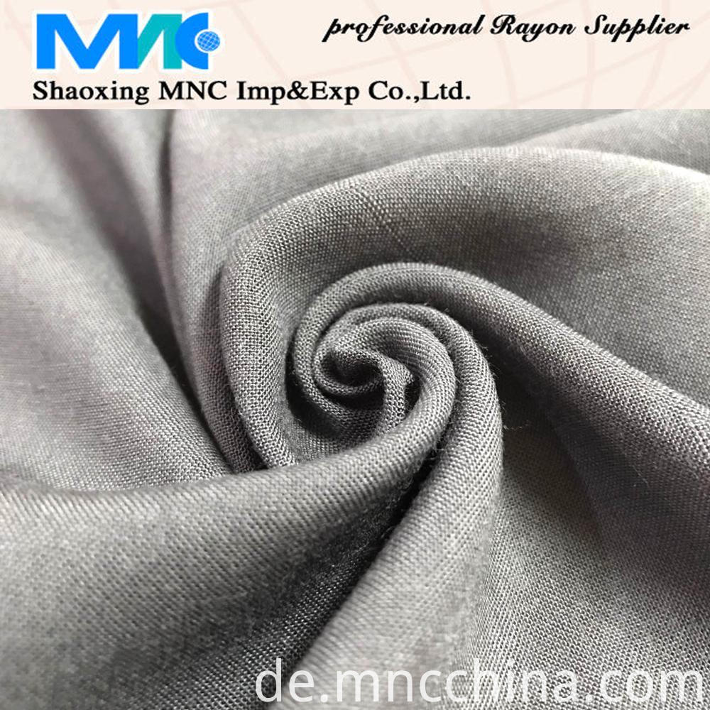 RECYCLED SPUN VISCOSE SOLID FABRIC