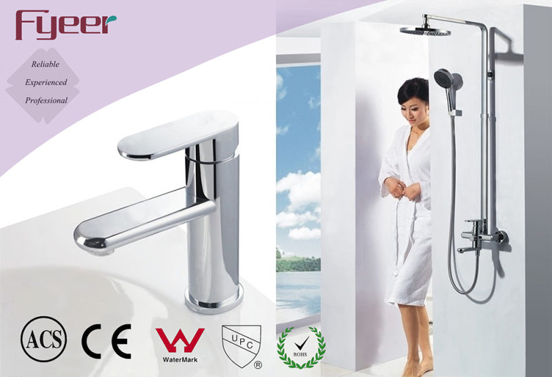 Fyeer Chrome High Body Brass Creative Rotatable Spanner Style Single Handle Wash Basin Faucet Water Mixer Tap