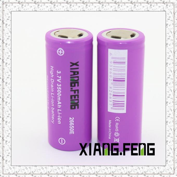 3.7V Xiangfeng 26650 3500mAh Icr Rechargeable Lithium Battery Best Vape Batteries