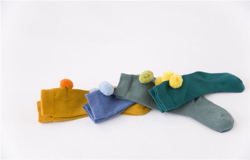 Lovely Fuzzy Ball Cotton Socks Cute Socks for Little Girl Wonderful Looks