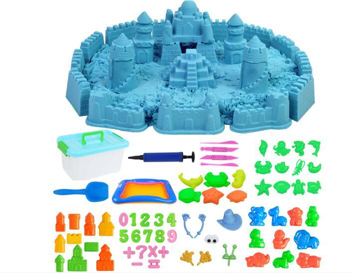 Educational Magic Sand for Children Creative Playing Dynamic Sand Moving Sand Set