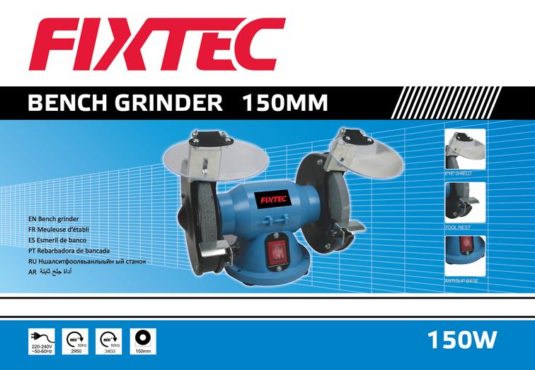 Fixtec 150W 150mm Mini Electric Bench Grinder