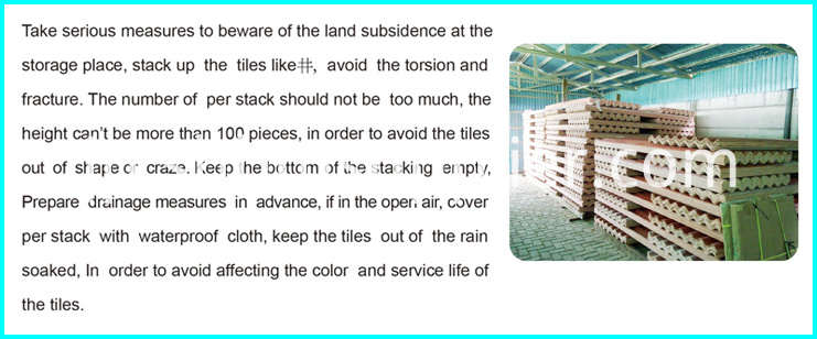 Anti-corosion Light Weight Ceramic Roof Tiles