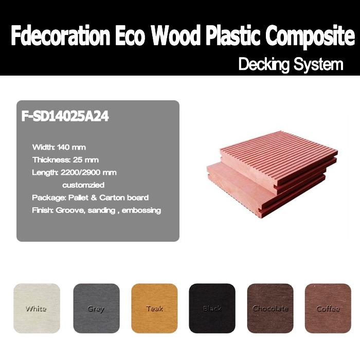 Outdoor Eco WPC Flooring Wood Plastic Composite