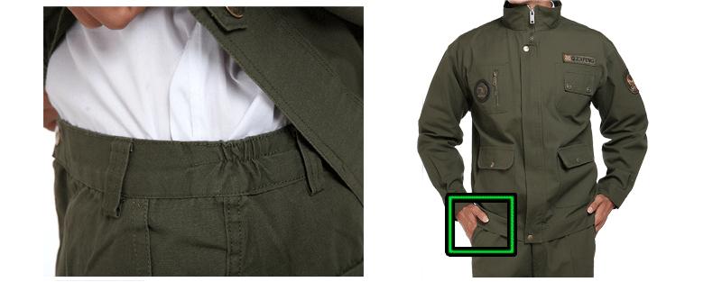 New Style Workwear Uniform Dark Green Suit (YMU107)
