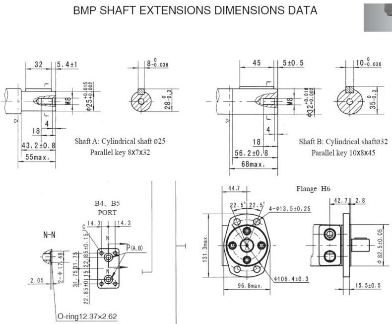 (Chinese manufacture) BMP Low Speed Hydraulic Orbit Motor