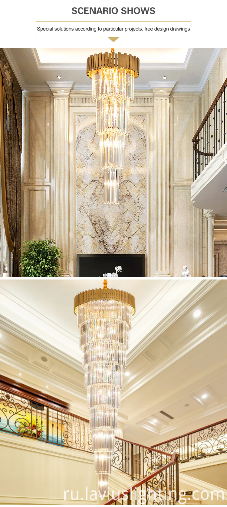 mall hotel gorgeous pendant chandelider