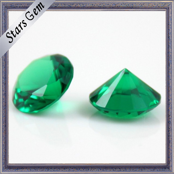Hot Sale High Temperature Resistant Loose Gemstone Oval 10 X 14 Nano Green