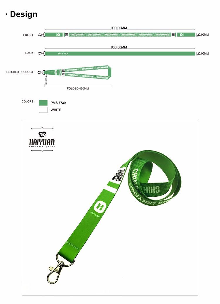 Round Braid Nylon Lanyard-100 Pack
