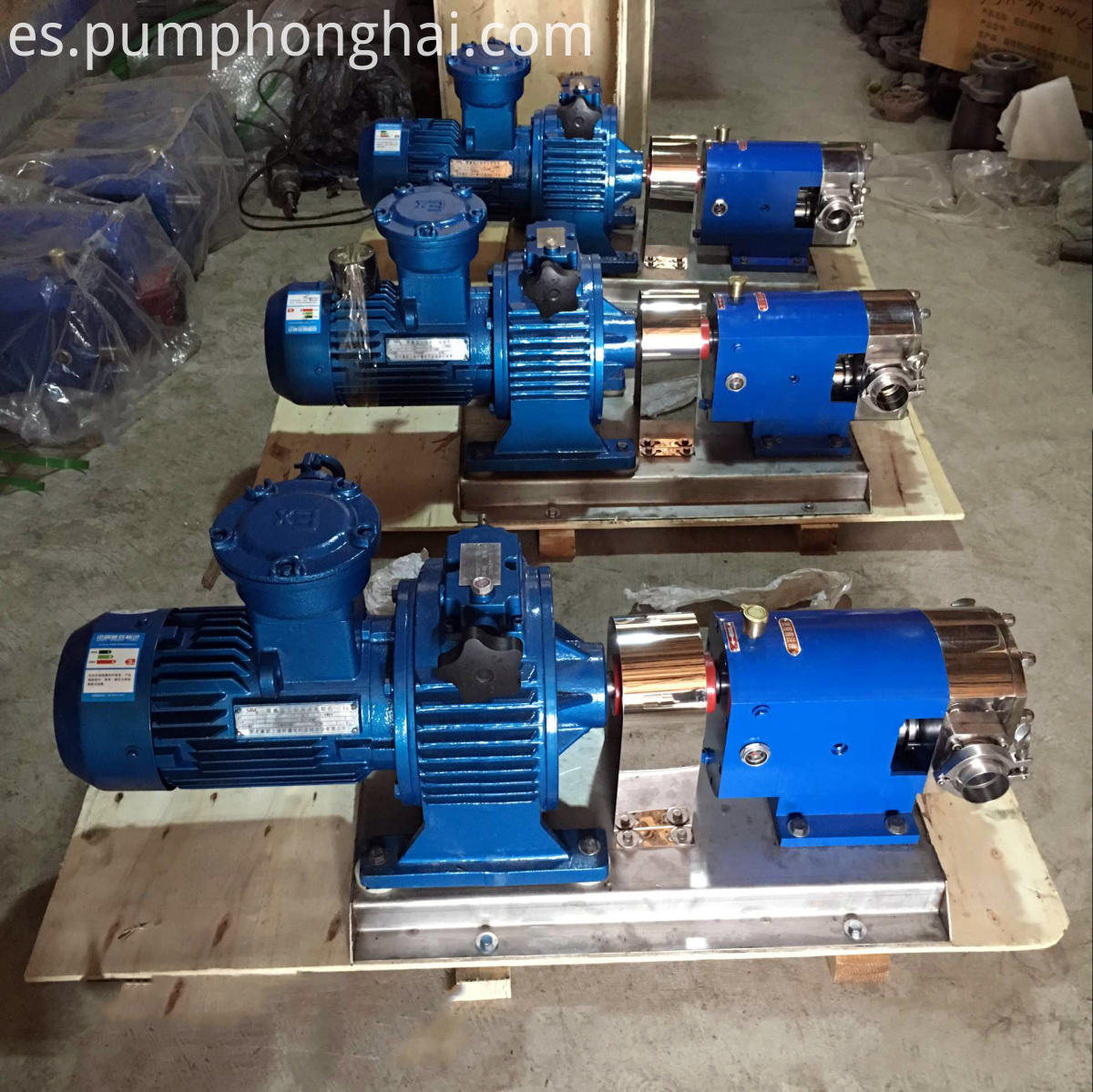 sanitary honey rotary lobe pump