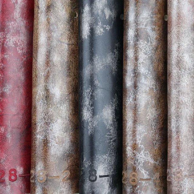 Sofa Oil Wax PU Imitation Leather for Furniture (928#)