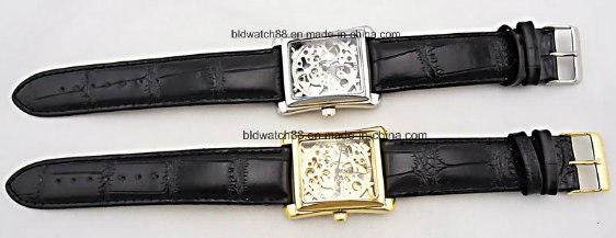 Promotional Small Wrist Gold Watch with Leather Band