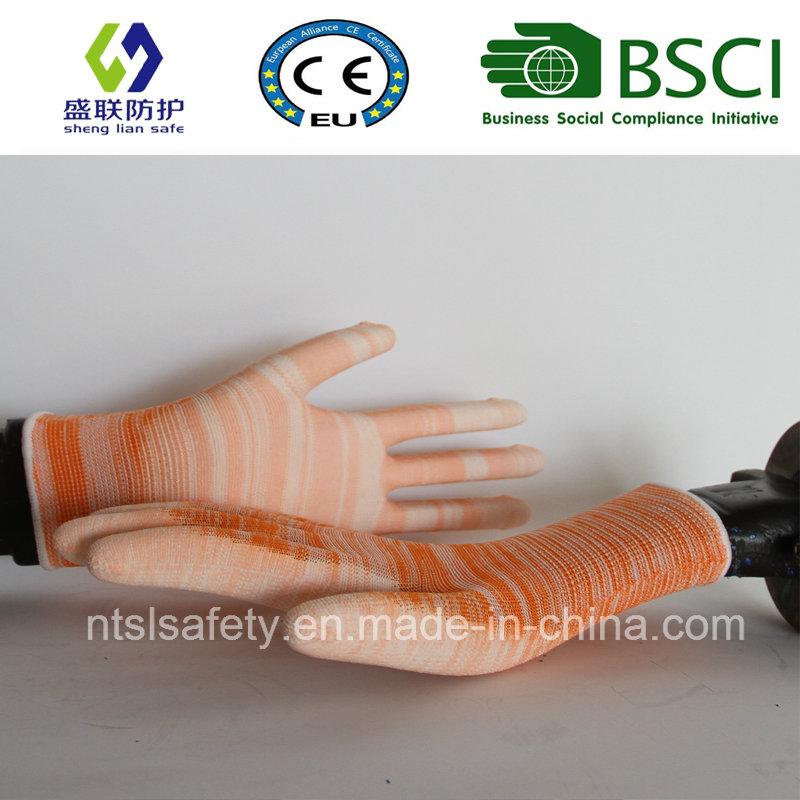 Orange PU Coated Work Safety Glove (SL-PU201O)