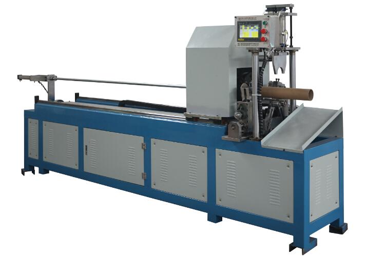 High Speed spiral Kraft Paper Tube Pipe Cutting Machine