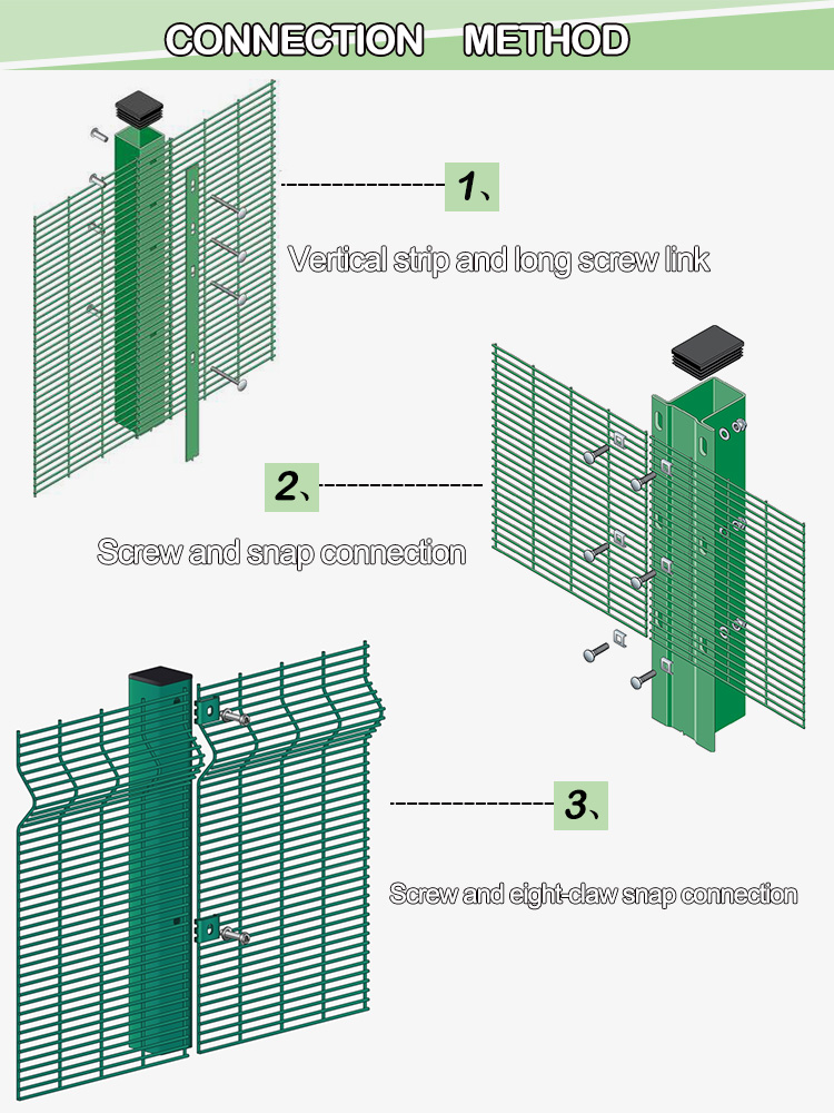 welded fence 358 anti-climb mesh fencing system