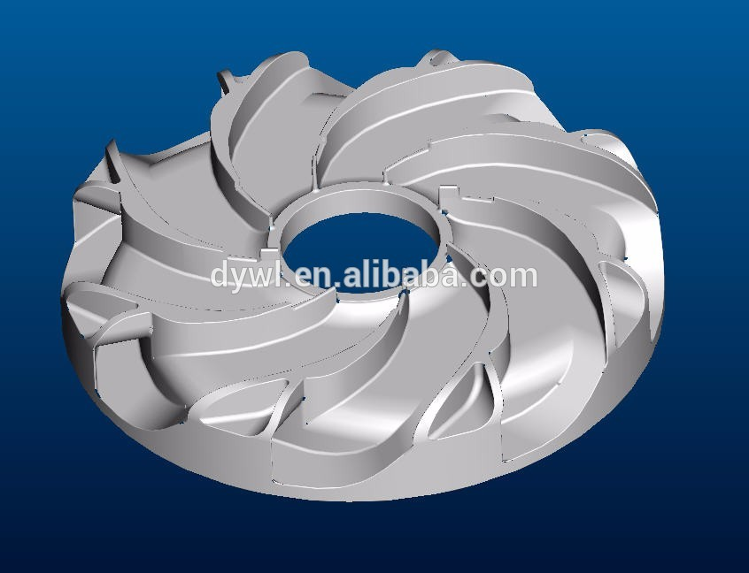 investment casting cnc machining pump impeller mold mould