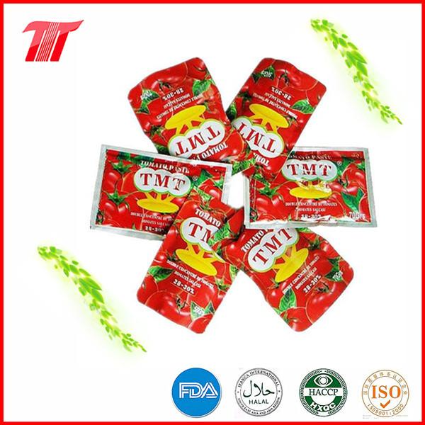 70g Sachet Tomato Paste From Chinese Tomato Paste Factory