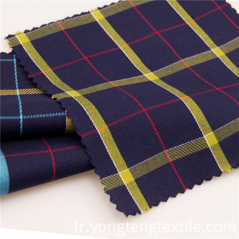 100%cotton check fabric for shirt and dress