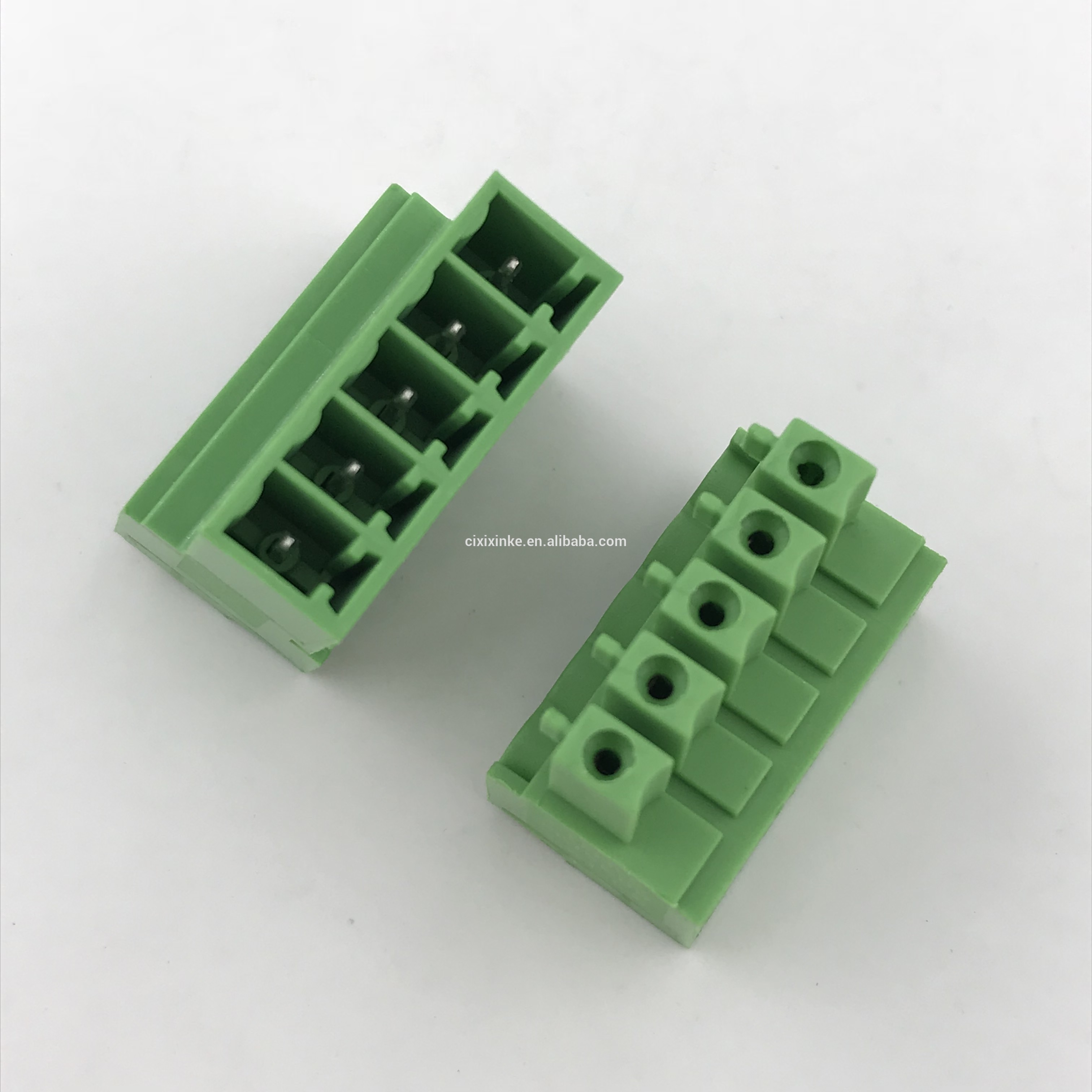 5 contacts of wiring screw pluggable terminal block