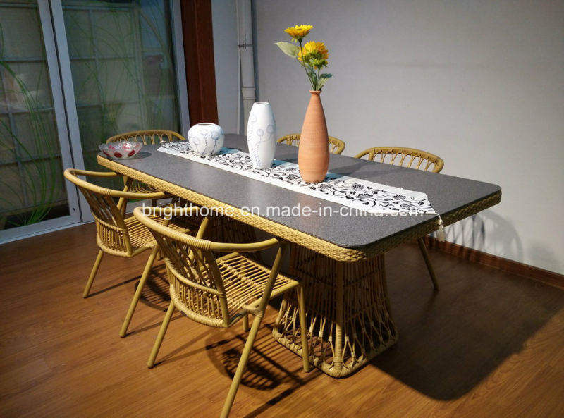 New Design Modern Outdoor Synthetic Rattan Chair and Table