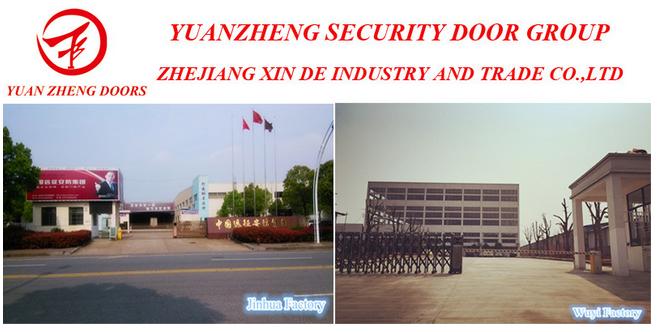 Sliding Security Double Steel Door for Egypt