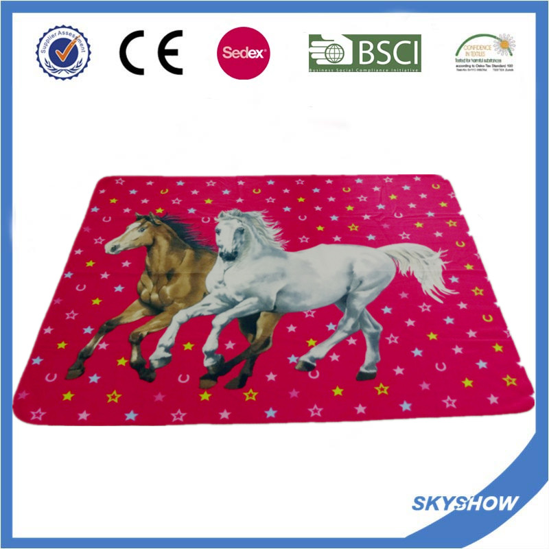 2016 Hot Sale Promotion Polar Fleece Custom Print Polyester Blanket