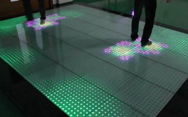 3D Mirror Glass LED Dance Floor