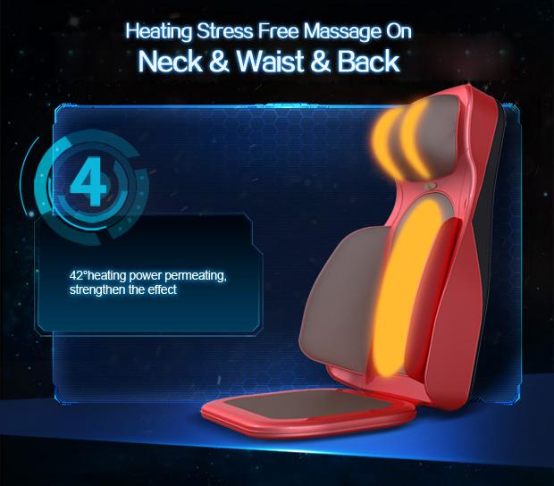 Neck Back Massager Electronic Vibration Shiatsu Kneading Massage Cushion Reviews