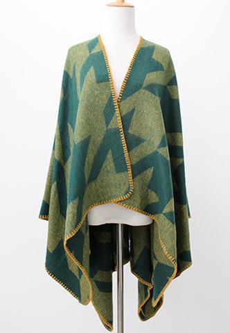 Womens Soft Cashmere Feel Alike Swallow Gird Printing Stole Poncho Shawl (SP287)