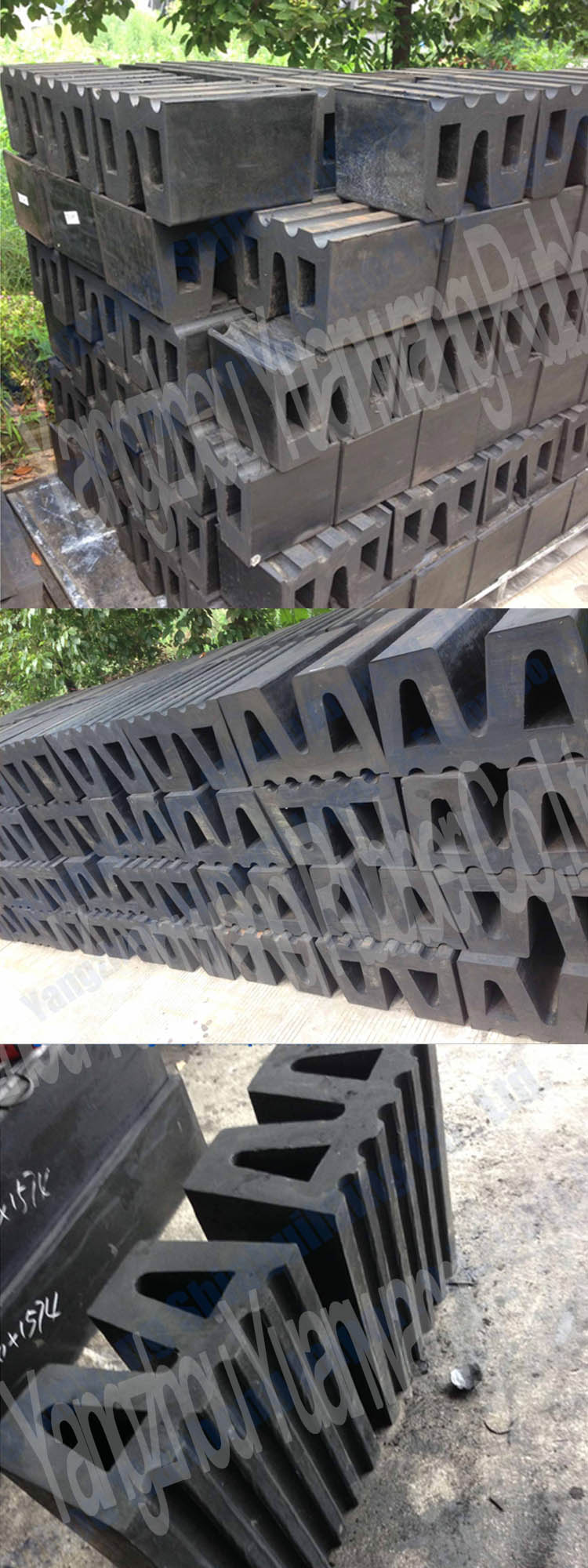 CCS Certificate Super Ladder Rubber Fenders Used on Ship
